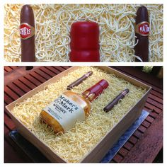 Maker's Mark + Cigars Groom's Cake