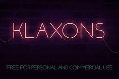 Klaxons – Free Neon Font