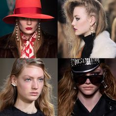 """The """"it"""" Trendy Jewellery style for FW 2016: Pearl Adorn Earrings. Gucci, Topshop Unique, Jason Wu, Moschino Fall Winter 2016."""