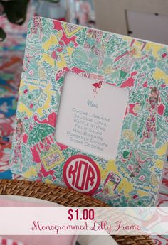 {Party Crafts} – DIY $1 Lilly Pulitzer Frame