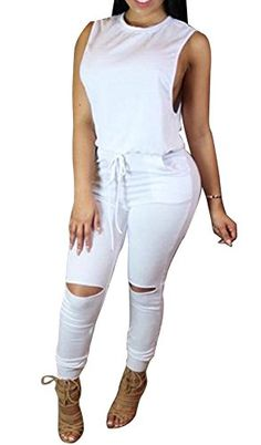 Special Offer: $19.75 amazon.com Basic Information:Feminine,chic and seriously flattering,it belongs in your day-to-night wardrobeBlansdi Women Sexy Crewneck Sleeveless Knee Hole Long Pants Casual Jumpsuits Romper Size InformationS: Bust 35.4″, Waist 28.3″, Hip 35.4″ ,...