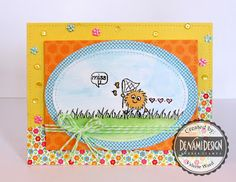 DeNami Design stamps, Doodlebug paper, Pretty Pink Posh sequins, Distress inks, Lawn Fawn dies {ValByDesign, 2015}