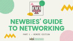 Newbies' Guide to Networking - Remote Edition Instructional design eLearning Who Is An Entrepreneur, Calendar Reminder, Instructional Design, Job Title, Cloud Based, Event Calendar, Facetime, How To Introduce Yourself, Remote