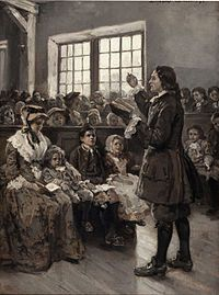 Alice Barber Stephens (July 1, 1858 - July 13, 1932) was an American painter and engraver, best remembered for her illustrations.  John Wesley Teaching His Sunday School oil on canvas (1897) - Wikipedia, the free encyclopedia