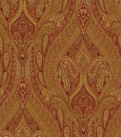 Upholstery Fabric-Waverly Karaj Paisley Spice: home decor fabric: fabric: Shop | Joann.com