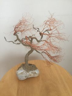 Winter is the best time of the year to see the actual branches and trunk of the tree - without the leafy covering Peace Art, Miniature Trees, One Tree, Wabi Sabi, Recycled Materials, Copper Wire, Bonsai, Sculpture Art, Nature
