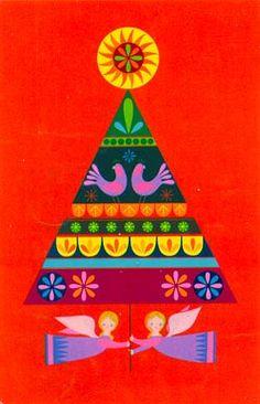 "Hallmark. Mailed 1968.  The ""new Hallmark Christmas card designs  are imaginative and distinctive…"""