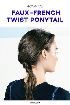 How to faux-French twist your hair - June 01 2019 at . - How to faux-French twist your hair – June 01 2019 at - French Twists, French Twist Hair, Latest Hairstyles, Easy Hairstyles, Twist Ponytail, Twist Outs, Hair Trends, Your Hair, Hair Styles