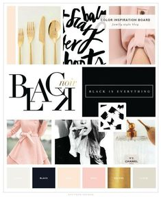 Chic mood board This Rose Gold Brand Board Template will help you design the brand of your dreams! Our Canva Templates are designed with female entrepreneurs in mind! Web Design, Blog Design, Design Ideas, Fashion Branding, Fashion Typography, Typography Logo, Poster Sport, Poster Festival, Brand Board
