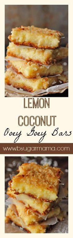 Lemon Coconut Ooey Goey Bars