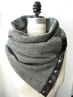 Fall 2012 Herringbone Chunky wool circular infinity scarf. $75.00, via Etsy.