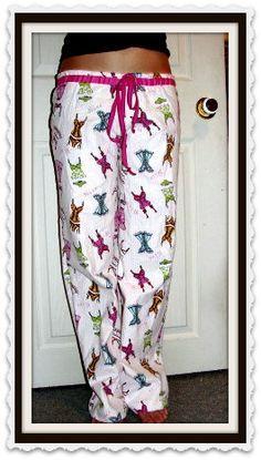 Easy Pajama Pattern. Sew Your Own Pajama Pants.