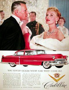 """Cadillac (1955) """"Podrías adivinar en que coche ellos llegaron"""""""