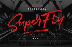 Ad: SuperFly Brush Font by Sam Parrett on Introducing SuperFly! A cool, classy, and versatile brush font with a loose flow. SuperFly combines attractive curves with a fresh urban Handwritten Quotes, Script Fonts, Business Brochure, Business Card Logo, Superfly 4, Different Words, Brush Font, Layout, Branding