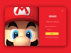 Hey! What's going on, Dribbble!    I was hyped about Nintendo's new console coming out that I wanted to create this as a Sign In.    I love to hear some feedback to get stronger in UI design. Thank you...