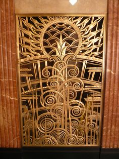 Decorative grille, Chanin building, NY City, 1928/29