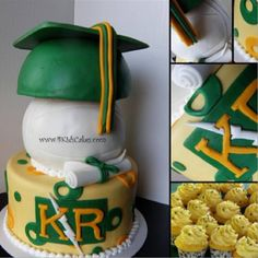 Volleyball Graduation Cake Kentridge HS
