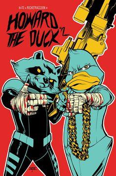 Howard the Duck #2 variant cover by Mahmud Asrar *