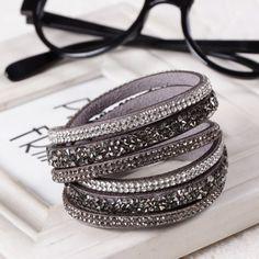 Nuovo di Vendita Caldo di Modo Braccialetto di Cuoio! braccialetti di fascino Braccialetti Per Le Donne! pulsanti Regolare Le Dimensioni! 1 pz Spedizione Gratuita!