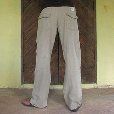 $79    Men's 100 percent hemp pants... by cocoricooo on Etsy
