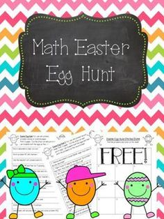 This free Math Egg Hunt is so easy to prep and such a great activity for your students! Print the problems and hide them in plastic eggs for a fun Math problem solving game! Math Card Games, Fun Math Games, Class Activities, Learning Games, Math Resources, Fourth Grade Math, First Grade Math, Grade 2, Second Grade