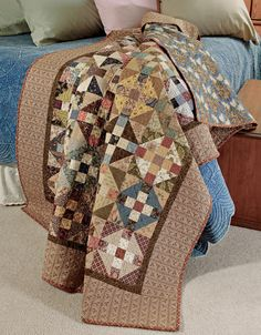 Michigan Crossroads Quilt Pattern It's actually the old Monkey Wrench quilt with colors moved around. Fall Quilts, Scrappy Quilts, Mini Quilts, Bed Quilts, Primitive Quilts, Antique Quilts, Churn Dash Quilt, History Of Quilting, Laundry Basket Quilts