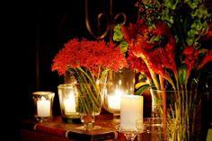 Arranjo grande - mesa doces - único tipo de flor