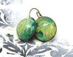 """Ohrhänger - """"Random Green"""" - ein Designerstück von Gentle-Breeze bei DaWanda"""