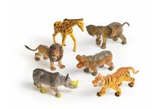 (Limited Supply) Click Image Above: Medium Jungle Animals - Set Of 6 Crib Accessories, Giraffe, Elephant, Kids Carnival, Discount School Supply, Art Basics, Dramatic Play Centers, Play Centre, Sand And Water