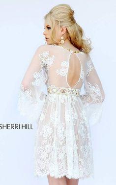 Ivory Sherri Hill 32260 Lace Cocktail Dress [32260] - $299.00 : 2015 Dress Gown Store|DressGownStore.com by dressgownstore