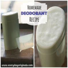 Homemade deodorant from everyday originals.
