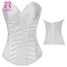 Sexy Gothic Clothing Push Up Corsets and Bustiers Bridal Corpetes E Espartilhos Plus Size Corset White Wedding Bustier Top Korse
