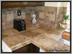 Here Is A Counter Top Made Of Porcelain Tile. The Colors And Designs In  Porcelain