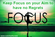 Focus on Aim Suvichar In Hindi, Focus On Yourself, Regrets, Movie Posters, Film Poster, Billboard, Film Posters