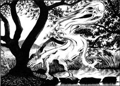 The Kunekune - has been popular in Japanese folklore for the last decade or so, and is considered the Japanese version of Slenderman. It is described as a white sheet with long, twisting arms, even when the wind isn't blowing. It's believed that those who see the Kunekune either go mad or simply disappear.