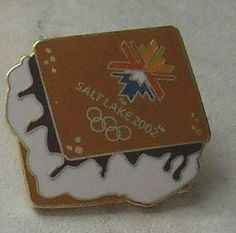 Salt Lake 2002 Olympic Games Smores S'mores Marshmallow Chocolate Olympics Pin -This Item is for sale at LB General Store http://stores.ebay.com/LB-General-Store  ~Free Domestic Shipping ~ $9.99