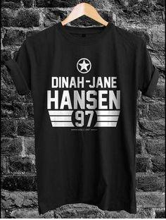 Remera negra me encanta (no se quien la diseño)  Dinah Jane de Fifth Harmony