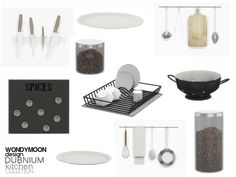 Created By wondymoon Dubnium Kitchen Decorations Created for: The Sims 4 Set Contains Kitchen Hanger -Magnetic Knife Block -Magnetic Spice Tins -Dish Drainer -Colander Kitchen Jar Plate -Wall. Mod Furniture, Sims 4 Cc Furniture, Resource Furniture, Kitchen Furniture, Sims 4 Tsr, Sims Cc, Sims 4 Kitchen, Kitchen Sets, Stockholm Design