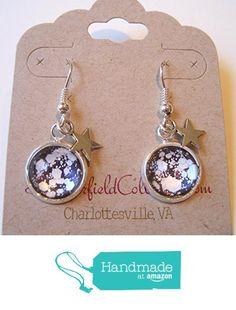 Glitter Glass Star Galaxy Dangle Earrings Purple White and Silver http://www.amazon.com/dp/B017YAE51S/ref=hnd_sw_r_pi_dp_edNrwb1TXPFJY #handmadeatamazon
