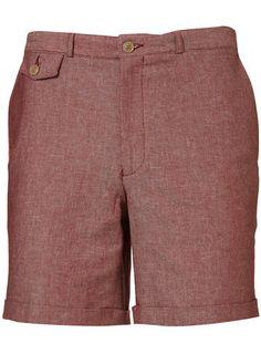 4fde0923d Berry Chambray Tailored Shorts Short Sur Mesure