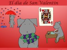 Join Pepper for the history of St. Valentine's Day with Spanish vocabulary.  She looks at St. Valentine, Valentine as meaning sweetheart, when people started celebrating with their Valentines on St. Valentine's Day, and hearts, birds, flowers and Cupid as symbols of love.
