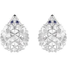 60456947d BOUCHERON Hans the Hedgehog pink-gold, diamond, black diamond and sapphire stud  earrings