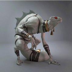 Snake-Man, Xavier Dabrowski on ArtStation Alien Creatures, Fantasy Creatures, Mythical Creatures, 3d Fantasy, Fantasy Races, Creature Concept Art, Creature Design, Fantasy Inspiration, Character Design Inspiration