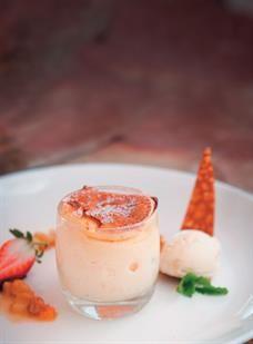 Rooibos milk tart soufflé <br />Photo: Bruce Tuck
