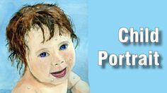 Online Art Class - 7 - Portrait of a Child - Paint Basket TV Art Lessons Online, Online Art Classes, Basket Tv, Painting For Kids, Painting Lessons, Painted Baskets, Child Face, Watercolour Painting, Book Art