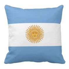 Pillow with flag of Argentina