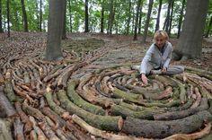 Karin van der Molen, Dutch land artist who creates permanent and ephemeral environmental sculptures and installations Outdoor Sculpture, Outdoor Art, Sculpture Art, Metal Sculptures, Abstract Sculpture, Bronze Sculpture, Land Art, Environmental Sculpture, Environmental Science