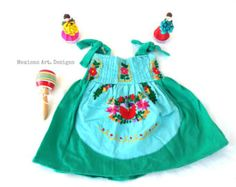 Florencia Yvory Mexican Embroidered Pompom por MexicanartDesigns