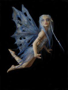 CUSTOM made -SHADOWSCULPT OOAK one of a kind fairy sculpture lifelike art doll polymer clay fantasy figurine commission made to order Magical Creatures, Fantasy Creatures, Polymer Clay Fairy, Fairy Pictures, Fairy Figurines, Baby Fairy, Beautiful Fairies, Fairy Art, Fairy Dolls