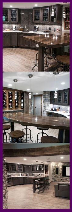 Basement Kitchen Ideas (Small Basement Kitchen and Bar Design) Though in reality, many tend to leave the basement unkempt. Instead of being specially-functioned, Small Basement Kitchen, Rustic Basement, Modern Basement, Kitchen On A Budget, Kitchen Ideas, Basement Ideas, Kitchen Layout, Kitchen Design, Industrial Dining